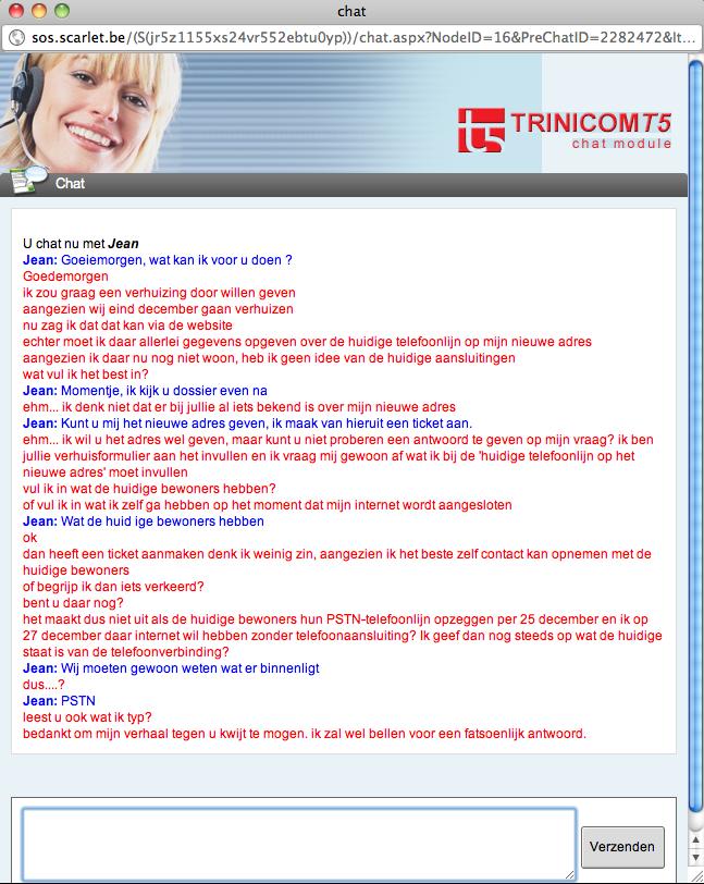 Ervaring Scarlet chat klantendienst helpdesk